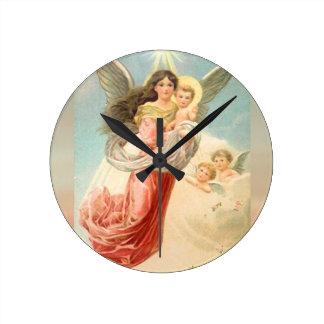 子供との守り神 ラウンド壁時計