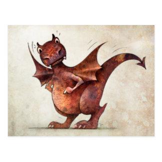 子供のおもしろいで小さいドラゴン ポストカード