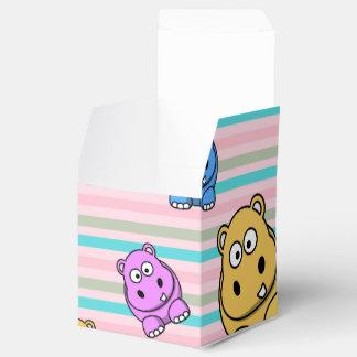 子供のためのかわいいカバのカラフルな動物園の動物のテーマ フェイバーボックス
