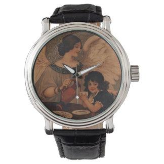 子供のためのココアを注ぐ天使 腕時計