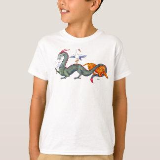 子供のための空手のワイシャツ Tシャツ
