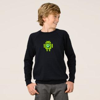 子供のアメリカの服装のRaglanのスエットシャツのアンドロイド スウェットシャツ