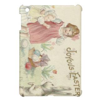 子供のイースターのウサギのバスケットによって着色される卵 iPad MINI カバー
