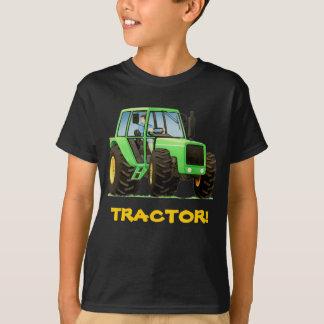 子供のカスタムな緑のトラクター Tシャツ