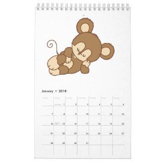 子供のカスタムによって印刷されるカレンダー カレンダー