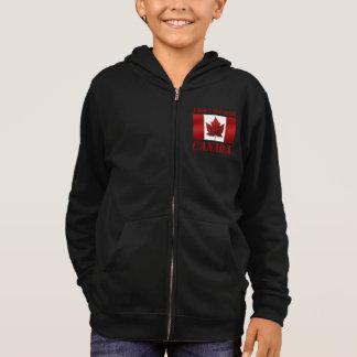 子供のカナダのジャケットの名前入りなカナダのフード付きスウェットシャツ スウェットシャツ