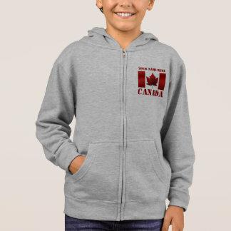 子供のカナダのジャケットの子供の名前入りなフード付きスウェットシャツ スウェットシャツ