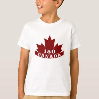 子供のカナダ150のTシャツ Tシャツ