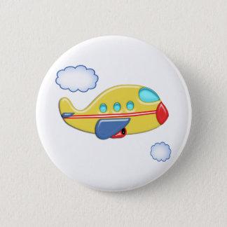 子供のカラフルな飛行機 缶バッジ