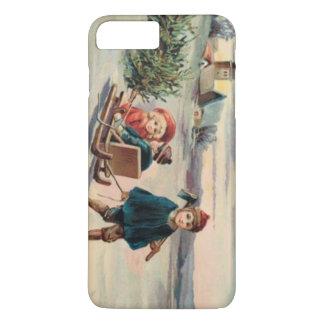 子供のクリスマスツリーのそりのそり iPhone 8 PLUS/7 PLUSケース