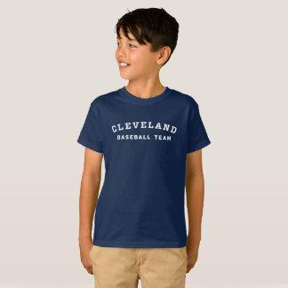 子供のクリーブランドの野球チームのティー Tシャツ