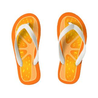 子供のサイズのかわいく、おもしろいなオレンジ切れ キッズビーチサンダル