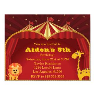 子供のサーカスの誕生日の招待状 カード