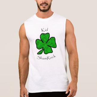 子供のシャムロック-緑のシャムロック 袖なしシャツ