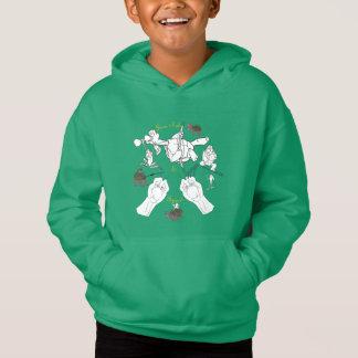 子供のジーンボブ及び速度のスケッチのフード付きスウェットシャツ