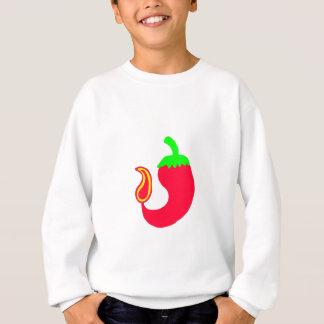 子供のスエットシャツの縦の熱いハラペーニョ スウェットシャツ