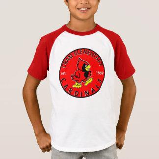 子供のストライプのな袖のワイシャツ Tシャツ