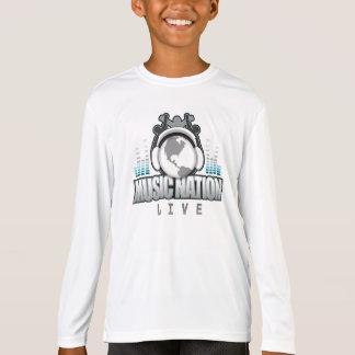 子供のスポーツTekの高性能の長袖T Tシャツ
