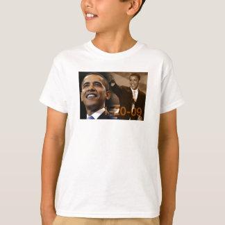 子供のティーバラック・オバマ1-20-09年 Tシャツ