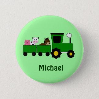 子供のトラクターの誕生日の好意ボタン 5.7CM 丸型バッジ