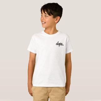 子供のドープ塗料。 クラシックの白黒Tシャツ Tシャツ
