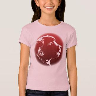 子供のニューファウンドランド犬のワイシャツ犬の恋人のTシャツ Tシャツ
