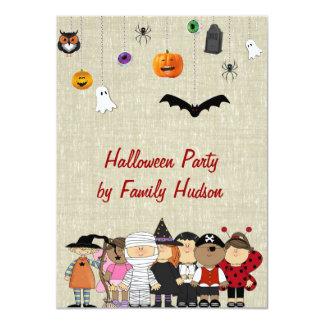 子供のハロウィンの招待状 カード