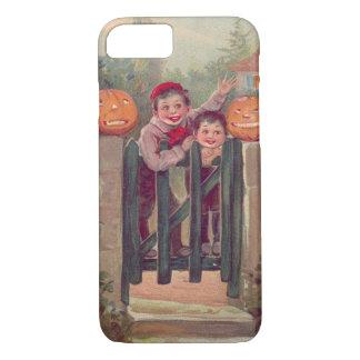 子供のハロウィーンのカボチャのちょうちんのカボチャ塀 iPhone 8/7ケース