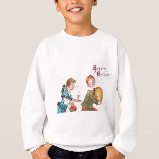 子供のハロウィーンのカボチャのちょうちんのカボチャ蝋燭Apple スウェットシャツ
