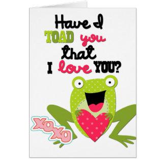 子供のバレンタインのカエルカード カード
