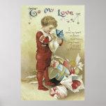 子供のバレンタインはハートを示します ポスター