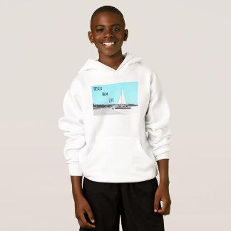 子供のビーチののらくら者の生命Hanes ComfortBlend®のフード付きスウェットシャツ