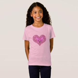 子供のピンクのチワワのTシャツ Tシャツ