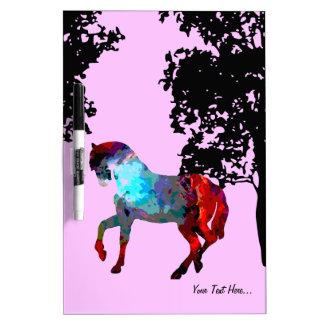 子供のピンクの馬 ホワイトボード