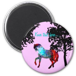 子供のピンクの馬 マグネット