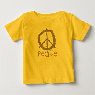 子供のピースサイン ベビーTシャツ
