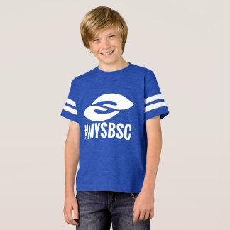 子供のフットボールのジャージーの#mySBSC Tシャツ