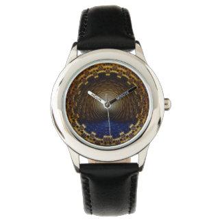 子供のフラクタルの時間トンネルのNumberless腕時計 腕時計