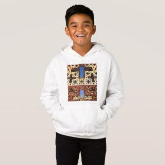 子供のフリースのプルオーバーのフード付きスウェットシャツ