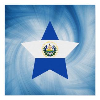 子供のフレンドリーなエルサルバドルの旗の星 ポスター