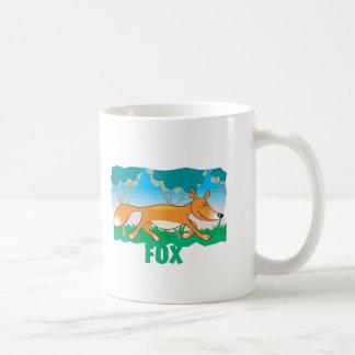 子供のフレンドリーなキツネ コーヒーマグカップ