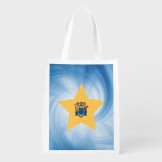 子供のフレンドリーなニュージャージーの旗の星 エコバッグ