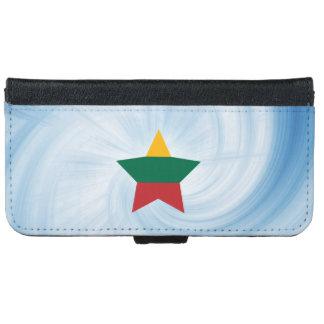 子供のフレンドリーなリスアニアの旗の星 iPhone 6/6S ウォレットケース