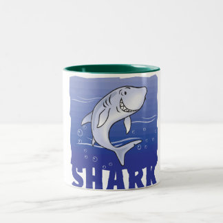 子供のフレンドリーな鮫 ツートーンマグカップ