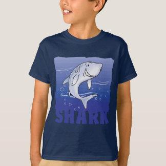 子供のフレンドリーな鮫 Tシャツ