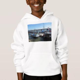 子供のフード付きスウェットシャツのスエットシャツ-水辺地帯