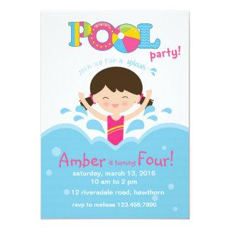 子供のプールのパーティの招待状/プールの招待状 カード