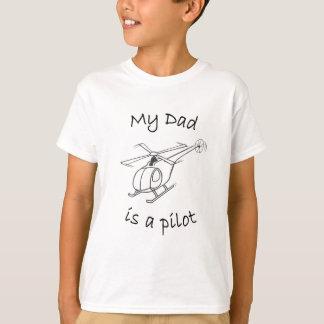 子供のヘリコプターのTシャツパパ Tシャツ