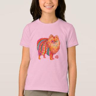 子供のポメラニア犬のTシャツ Tシャツ