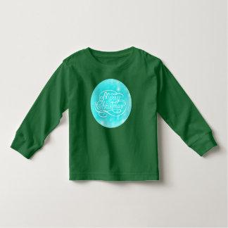 子供のメリークリスマスの季節的な長袖のTシャツ トドラーTシャツ